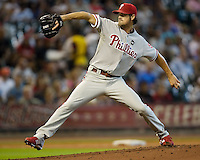 Hamels, Cole 5605.jpg Philadelphia Phillies at Houston Astros. Major League Baseball. September 6th, 2009 at Minute Maid Park in Houston, Texas. Photo by Andrew Woolley.