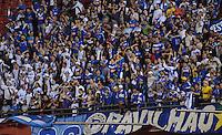 SAO PAULO SP, 20 Julho 2013 - Sao Paulo  X Cruzeiro.   torcida do Cruzeiro durante partida contra o São Paulo valida pelo campeonato brasileiro de 2013  no Estadio do Morumbi em  Sao Paulo, neste sabado, 20. (FOTO: ALAN MORICI / BRAZIL PHOTO PRESS).