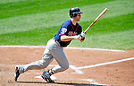 6 September 2009: Minnesota Twins' catcher Joe Mauer in action against the Cleveland Indians at Progressive Field in Cleveland, Ohio. The Indians defeated the Twins 3-1 to take the rubber match of their three-game weekend series. Mandatory Credit: Ed Wolfstein Photo