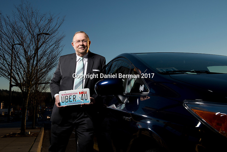 Kenmore Mayor David Baker works part-time as a driver with the ride sharing services Uber and Lyft in addition to his mayoral duties. Photo by Daniel Berman for Cityvision.