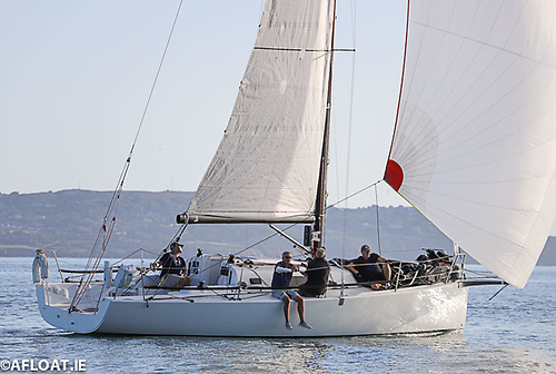 Andrew Algeo's Juggerknot II from the Royal Irish Yacht Club was second overall and sailing fully crewed for Race 5