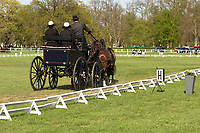 Noman Schroeder, german driver of his four in hand horses, at the International Dressage driving competition at Hrebecin Kladruby n. Laben, The Czech Republic, Europe