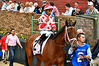 HOT SPRINGS, AR - APRIL 13:  Apple Blossom Handicap at Oaklawn Park on April 13, 2018 in Hot Springs,Arkansas.  #2 . Unbridled Mo with jockey Ricardo Santana, Jr. (Photo by Ted McClenning/Eclipse Sportswire/Getty Images)
