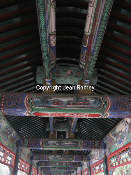 The Covered Walkway at the Summer Palace in Beijing dates back to 1750