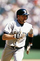 Chuck Knoblauch of the New York Yankees during a game against the Anaheim Angels circa 1999 at Angel Stadium in Anaheim, California. (Larry Goren/Four Seam Images)
