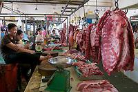 Phnom Penh, Cambodia. Central Market. Meat.