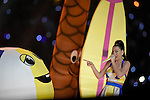 PHOENIX, ARIZONA - FEBRUARY 1: Singer Katy Perry performs at the Super Bowl Halftime Show at the University of Phoenix Stadium in Phoenix, Arizona (Photo by Donald Miralle for SI)