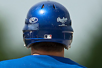 22 May 2009: Close view of an helmet during the 2009 challenge de France, a tournament with the best French baseball teams - all eight elite league clubs - to determine a spot in the European Cup next year, at Montpellier, France. Senart wins 7-1 over Montpellier.
