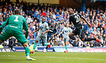 21.07.2019: Rangers v Blackburn Rovers: Alfredo Morelos buries his shot in the back of the net but his goal is disallowed