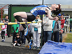Chloe Finlay from St Peters AC taking part in the girls under 16 high jump at Cushinstown AC. Photo: Colin Bell/pressphotos.ie