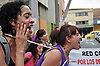 Medell&iacute;n, Colombia - Pro-choice demonstration; May 10, 2011.<br /> Protesters sing and chant outside the regional Attorney General's office.<br /> Photo &copy; Siobhan Riordan / IBJ.<br /> www.siobhanriordan.com