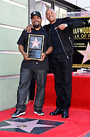 Ice Cube &amp; Dr. Dre at the Hollywood Walk of Fame star ceremony honoring actor/musician Ice Cube, Los Angeles, USA 12 June  2017<br /> Picture: Paul Smith/Featureflash/SilverHub 0208 004 5359 sales@silverhubmedia.com