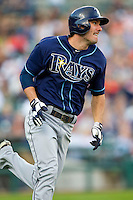 Matt Joyce (20) of the Tampa Bay Rays hustles down the first base line against the Detroit Tigers at Comerica Park on June 4, 2013 in Detroit, Michigan.  The Tigers defeated the Rays 10-1.  Brian Westerholt/Four Seam Images