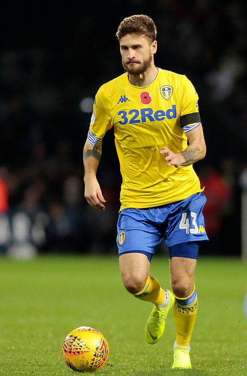 Leeds United's Mateusz Klich in action<br /> <br /> Photographer David Shipman/CameraSport<br /> <br /> The EFL Sky Bet Championship - West Bromwich Albion v Leeds United - Saturday 10th November 2018 - The Hawthorns - West Bromwich<br /> <br /> World Copyright © 2018 CameraSport. All rights reserved. 43 Linden Ave. Countesthorpe. Leicester. England. LE8 5PG - Tel: +44 (0) 116 277 4147 - admin@camerasport.com - www.camerasport.com