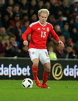 Jonathan Williams of Wales during the Wales v Netherlands  International Friendly, at Cardiff City Stadium, Cardiff, Wales, United Kingdom, 13 November 2015.