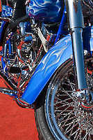 "Harley Davidson HOG Buell Motorcycle ""Harley"", Blue, White, Flames"