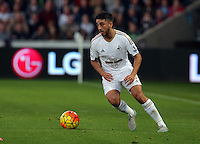 Neil Taylor of Swansea during the Barclays Premier League match between Swansea City and Arsenal at the Liberty Stadium, Swansea on October 31st 2015