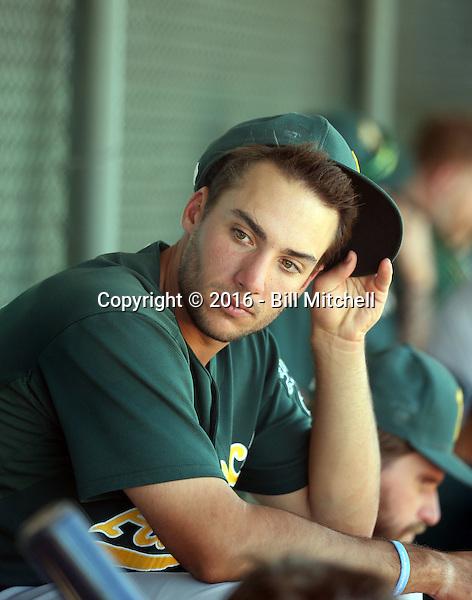 Matt Olson - Oakland Athletics 2016 spring training (Bill Mitchell)