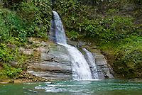Falls on Upper Navua River, River Canyon with waterfalls and rainforest, Viti Levu Island, Upper Navua Conservation Area, Fiji