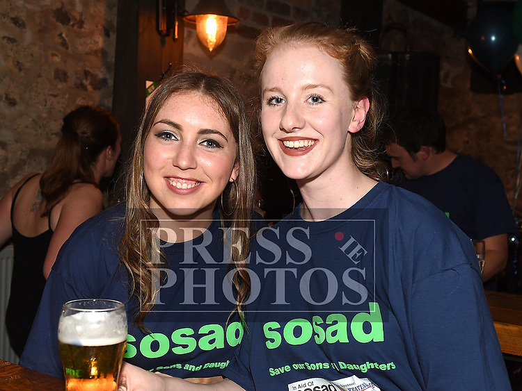 Clare Regan and Anna Donnelly at the waterski to the Isle of Man launch night in aid of SOSAD in Odd Mollies. Photo:Colin Bell/pressphotos.ie