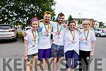 Ciara O'Shea (Muckross), Dylan Ahern (Killarney), Kevin Heffernan (Killarney), Cora McGlynn  (Fossa) and Catherine O'Sullivan (Killarney) enjoying the colour run in Killarney on Sunday..