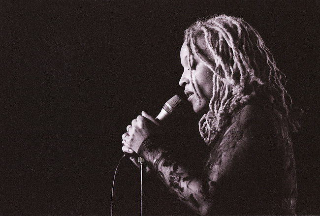 Cassandra Wilson performing at the Contemporary Arts Center in New Orleans, Louisiana. USA. Camera: Leica R8 / Lens: 180mm f/2.8 Elmarit-R / Film: Ilford Delta-3200 Professional