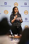 "Gizhe Cardoza speaks at the ""We Are Western"" event hosted by the Western Nevada College Foundation, in Carson City, Nev., on Friday, March 8, 2019. <br /> Photo by Cathleen Allison/Nevada Momentum"