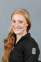 STANFORD, CA-October 16, 2014- Pauline Hanset of the Stanford Womens Gymnastics Team