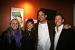 As The World Turns' Terri Colombino - Cady McClain - Jon Lindstrom - Kevin Spirtas at the Opening Night of the off-Broadway play The Irish Curse on March 28, 2010 at the Soho Playhouse, New York City, New York. (Photo by Sue Coflin/Max Photos)