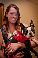 Ashley Dawn Scouller and pet attend the 11th Annual Pet Lovers Gala, 'My Furry Valentine', to raise funds for The Humane Society Naples no-kill animal shelter, held at the Ritz Carlton Tiburon, Naples, Florida, Feb. 12, 2011. Photo by Debi Pittman Wilkey
