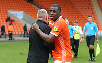 Blackpool's Manager Terry McPhillips with Blackpool's Donervon Daniels<br /> <br /> Photographer Rachel Holborn/CameraSport<br /> <br /> The EFL Sky Bet League One - Blackpool v Bradford City - Saturday September 8th 2018 - Bloomfield Road - Blackpool<br /> <br /> World Copyright &copy; 2018 CameraSport. All rights reserved. 43 Linden Ave. Countesthorpe. Leicester. England. LE8 5PG - Tel: +44 (0) 116 277 4147 - admin@camerasport.com - www.camerasport.com
