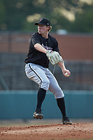 Kannapolis Intimidators starting pitcher Parker Rigler (31) in action against the Hickory Crawdads at L.P. Frans Stadium on July 20, 2018 in Hickory, North Carolina. The Crawdads defeated the Intimidators 4-1. (Brian Westerholt/Four Seam Images)