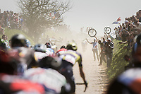 spare wheels all over the paved sections<br /> <br /> 115th Paris-Roubaix 2017 (1.UWT)<br /> One Day Race: Compiègne › Roubaix (257km)