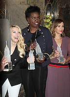 NEW YORK, NY-July 12: <br />  Kate Mckinnon, Leslie Jones, Kristen Wiig at Gilda's Club &amp; Ghostbuster Cast Lighting  at Empire State Building  in New York. NY July 12, 2016. Credit:RW/MediaPunch
