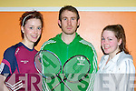 Olivia Dineen Causeway, Neilie Stack Listowel and Chloe Daly Listowel who competed at the Badminton County championships in Castleisland on Sunday................
