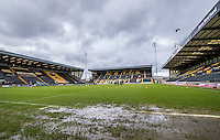 General view of the pitch pre match during the Sky Bet League 2 match between Notts County and Wycombe Wanderers at Meadow Lane, Nottingham, England on 28 March 2016. Photo by Andy Rowland.