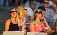 Female fans in the big crowd  during the Black Caps v Australia international T20 cricket match at Eden Park in Auckland, New Zealand. 16 February 2018. Copyright Image: Peter Meecham / www.photosport.nz