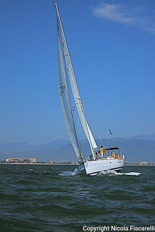 The sailboat participates in 2009 Regatta    of the coast of La Cruz Mexico.