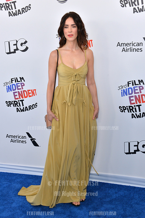 Abigail Spencer at the 2018 Film Independent Spirit Awards on the beach in Santa Monica, USA 03 March 2018<br /> Picture: Paul Smith/Featureflash/SilverHub 0208 004 5359 sales@silverhubmedia.com
