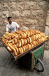 Israel, Jerusalem, a bread seller at the Old City