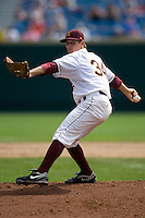 Arizona State pitcher Seth Blair in Game 4 of the NCAA Division One Men's College World Series on Monday June 21st, 2010 at Johnny Rosenblatt Stadium in Omaha, Nebraska.  (Photo by Andrew Woolley / Four Seam Images)