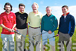 COMPETITION: The Dooks Golf team who played Tralee Golf Team in the first round of the Senior Cup at Tralee Golf Club, on Saturday. L-r: Karl Falvey (Manager), Stuart Graham, Johnny Houlihan,Paul Griffin and Micheal Shaugnessy.