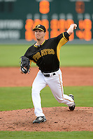 Pitcher Adam Wilk (71) of the Pittsburgh Pirates during a spring training game against the New York Yankees on February 26, 2014 at McKechnie Field in Bradenton, Florida.  Pittsburgh defeated New York 6-5.  (Mike Janes/Four Seam Images)