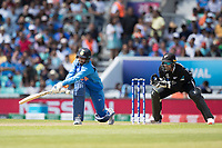 Yuzvendra Chahal (India) attempts a sweep shot during India vs New Zealand, ICC World Cup Warm-Up Match Cricket at the Kia Oval on 25th May 2019