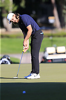Tommy Fleetwood (ENG) putts on the 17th green during Friday's Round 2 of the 2018 Turkish Airlines Open hosted by Regnum Carya Golf &amp; Spa Resort, Antalya, Turkey. 2nd November 2018.<br /> Picture: Eoin Clarke | Golffile<br /> <br /> <br /> All photos usage must carry mandatory copyright credit (&copy; Golffile | Eoin Clarke)