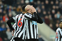 A frustrated Jonjo Shelvey of Newcastle United during Newcastle United vs Swansea City, Premier League Football at St. James' Park on 13th January 2018