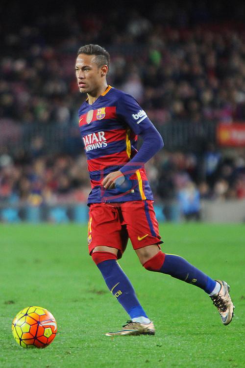 League BBVA 2015/2016 -Game: 20.<br /> FC Barcelona vs Athletic Club: 6-0.<br /> Neymar Jr.