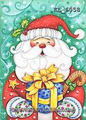Interlitho, CHRISTMAS SANTA, SNOWMAN, WEIHNACHTSMÄNNER, SCHNEEMÄNNER, PAPÁ NOEL, MUÑECOS DE NIEVE, paintings+++++,santa,present,KL6058,#X# ,#161#