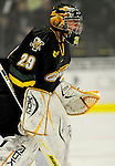 1 December 2007: University of Vermont Catamounts' goaltender Joe Fallon, a Senior from Bemidji, MN, in action against the Providence College Friars at Gutterson Fieldhouse in Burlington, Vermont. The Friars shut out the Catamounts 4-0 in front of a capacity crowd of 4003, for the 64th consecutive sell-out at Gutterson...Mandatory Photo Credit: Ed Wolfstein Photo