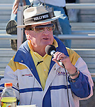 Race announcer Danny Clisham during the National Championship Air Races at the Reno-Stead Airfield Friday, Sept. 18, 2015.